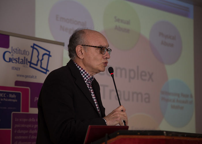 Daniele La Barbera in occasione del convegno Terapia del trauma: corpo, neuroscienze e Gestalt, Palermo, 3-4 febbraio 2017