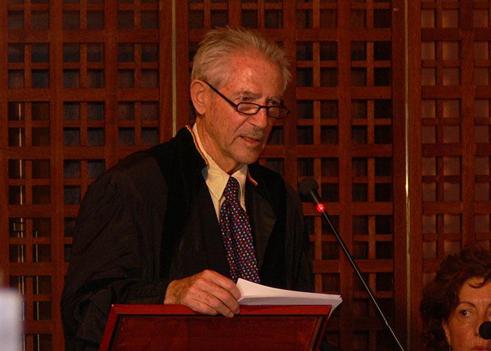 Daniel Stern in occasione del conferimento della Laurea Honoris Causa in Psicologia Clinica dello Sviluppo dell'Università degli Studi di Palermo, 2015