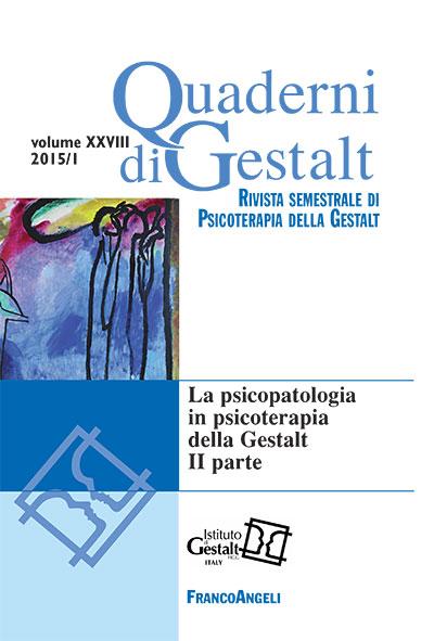 Quaderni di gestalt 2015-1 rivista italiana di psicoterapia della gestalt