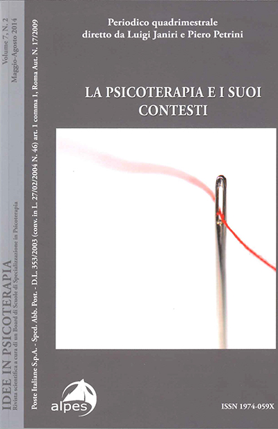Idee in psicoterapia La psicoterapia e i suoi contesti Vol.7 n.2-2014