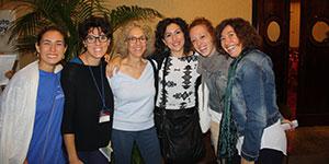 Ruella Frank New York con le didatte in formazione dell'Istituto di Gestalt HCC Italy