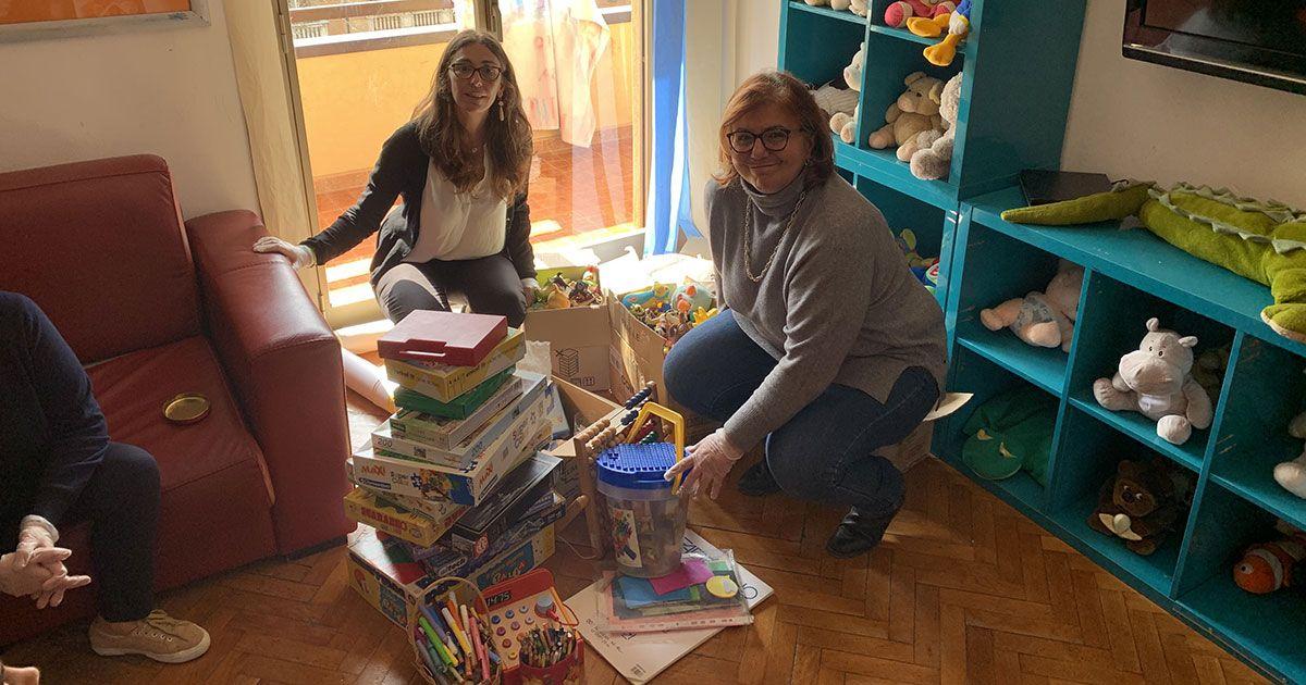 Donazione giocattoli bambini emergenza covid coronavirus