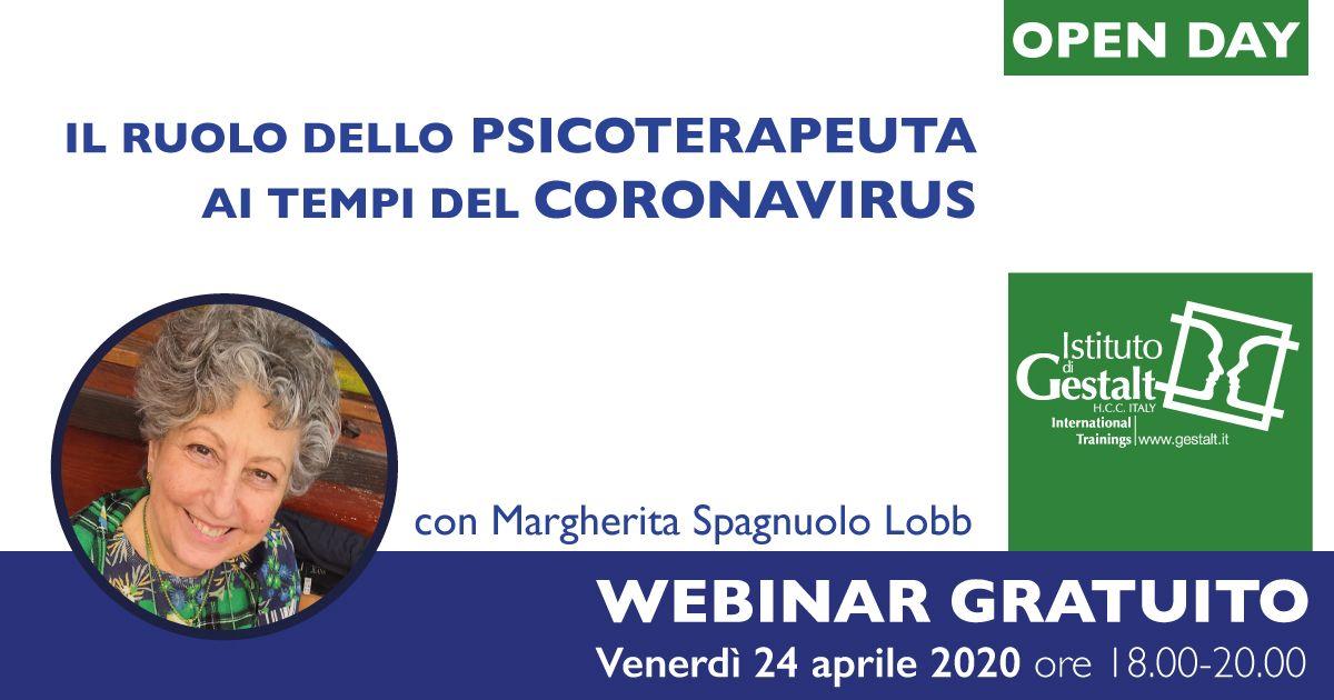Webinar psicoterapeuta psicologo ai tempi del coronavirus