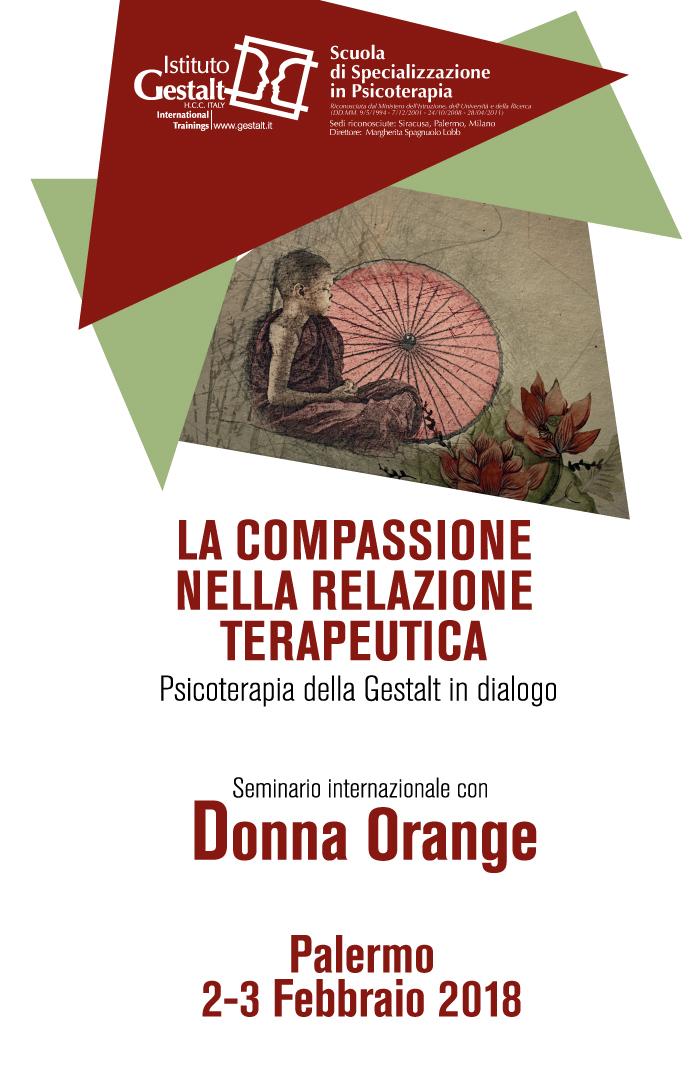 Donna Orange workshop Palermo Compassione relazione terapeutica Home