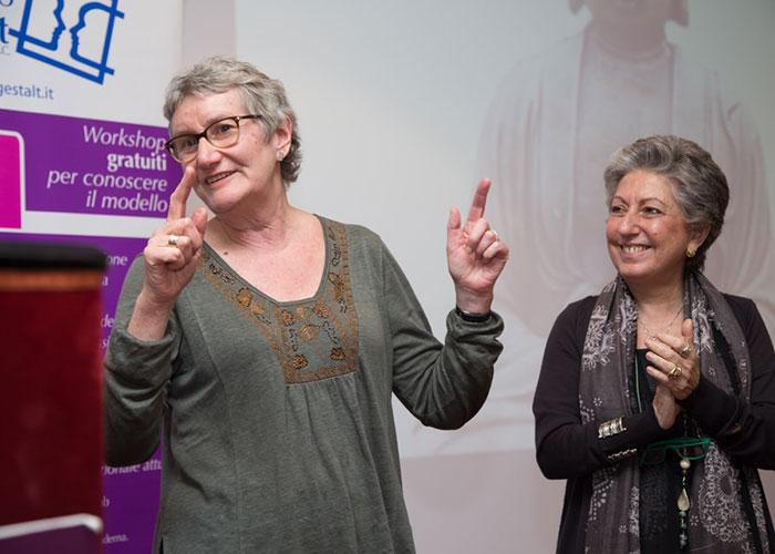 """Miriam Taylor in occasione del convegno """"Terapia del Trauma: Corpo, Neuroscienze e Gestalt"""", Palermo, 3-4 febbraio 2017"""