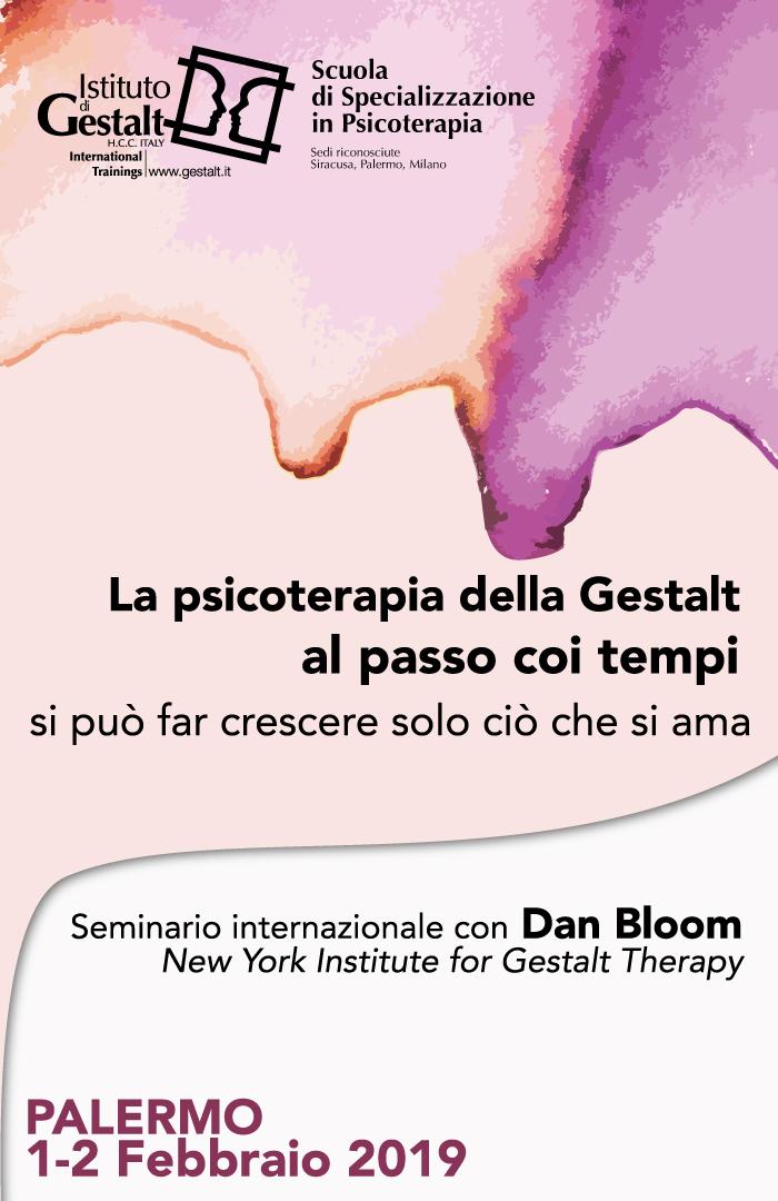 La psicoterapia della Gestalt al passo coi tempi. Dialogo clinico con Dan Bloom (NY, USA) home