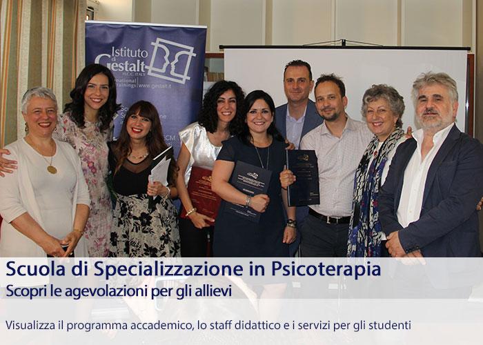 Scuola Specializzazione Psicoterapia - Diventa Psicoterapeuta della Gestalt, agevolazioni, scopri i programmi didattici Home